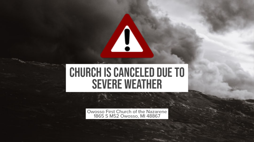 Church is cancelled.